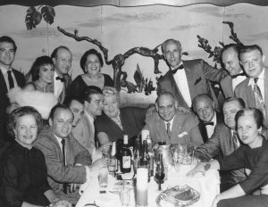 Irving Roth (the tallest one) with Sophie Tucker and the gang, Chicago, IL